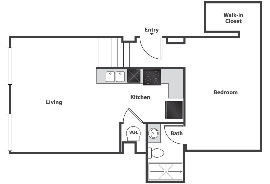 Floor plans pricing east 8 cincinnati oh lofts for Studio loft apartment floor plans