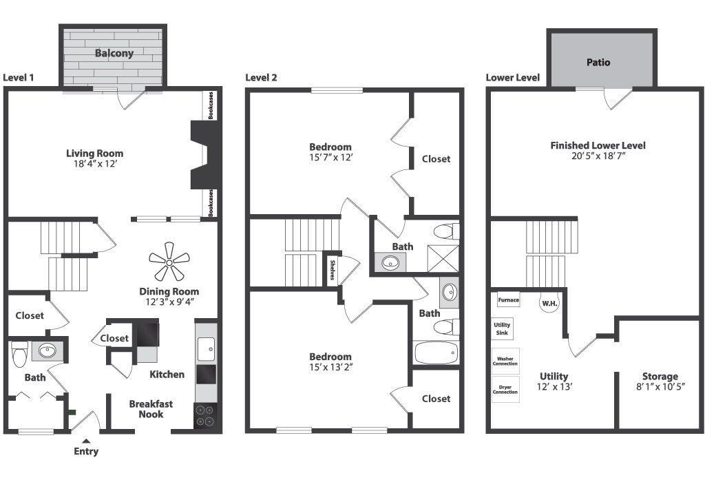Floor plans pricing olde montgomery apts in oh - 2 bedroom apartments in cincinnati ...