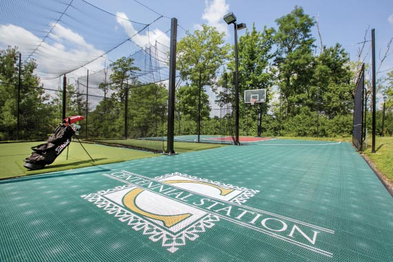 Centennial Station Amenity - Basketball Court & Golf Swing Studio