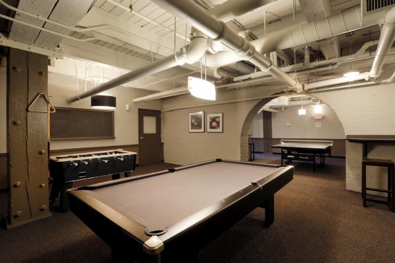 East 8 Lofts Amenity - Game Room with Billiards