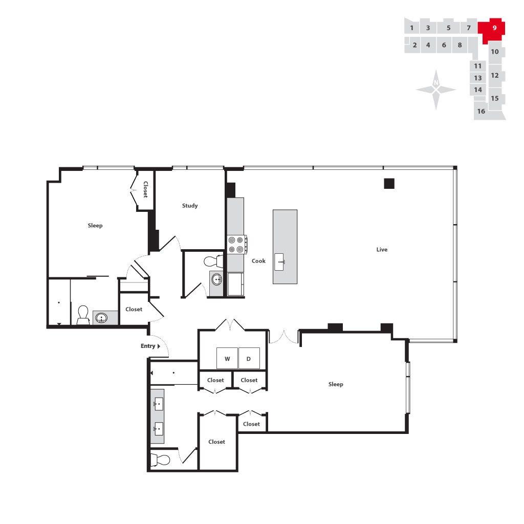 Seven At Broadway Floor Plans