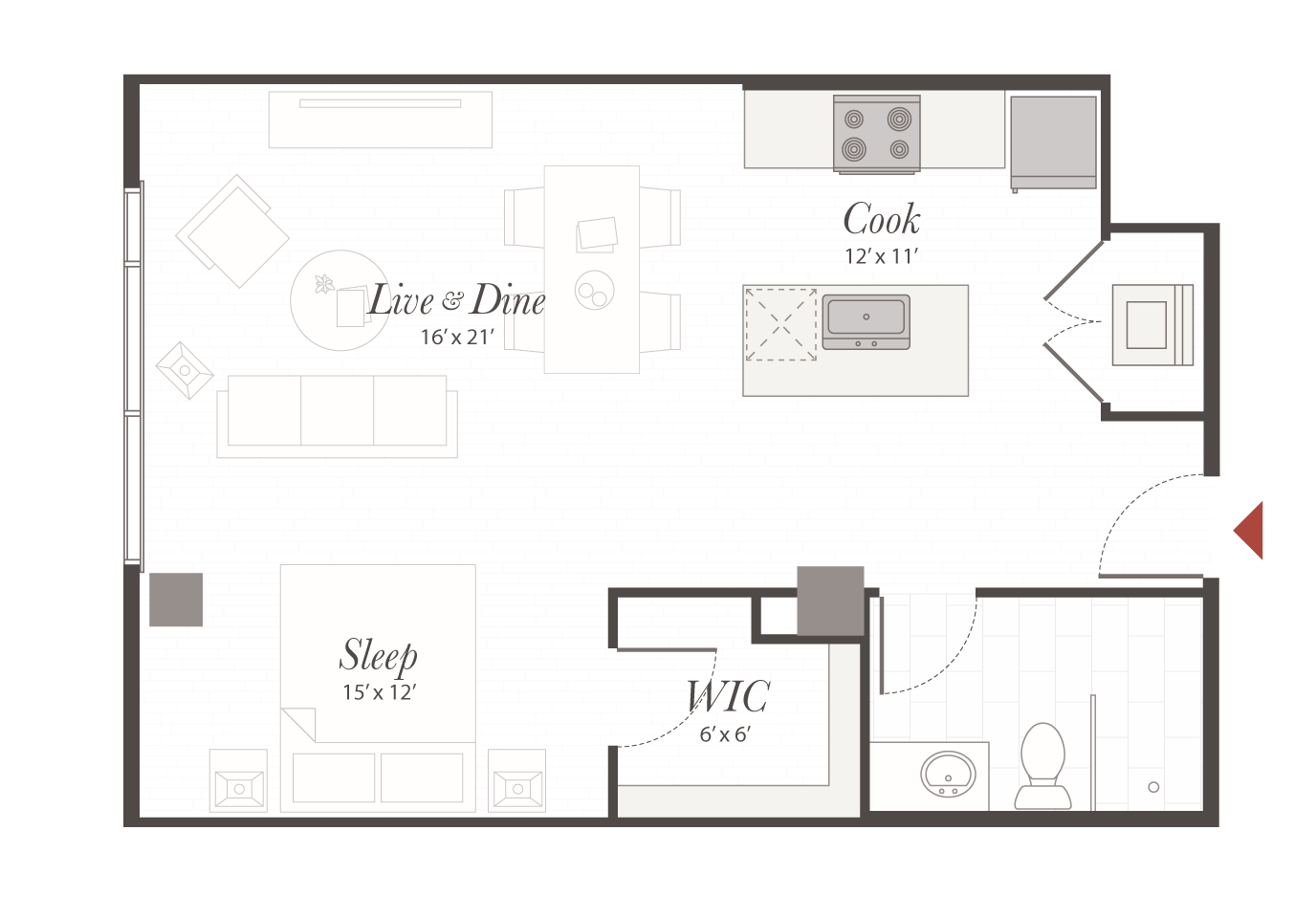 Studio Apartment Cincinnati, OH