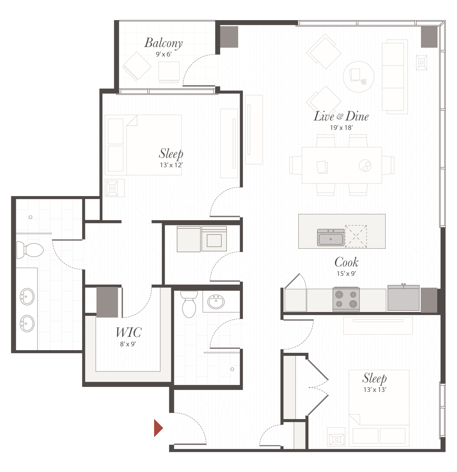 B6 - 1 Bedroom Apartment Cincinnati   Encore Apartments