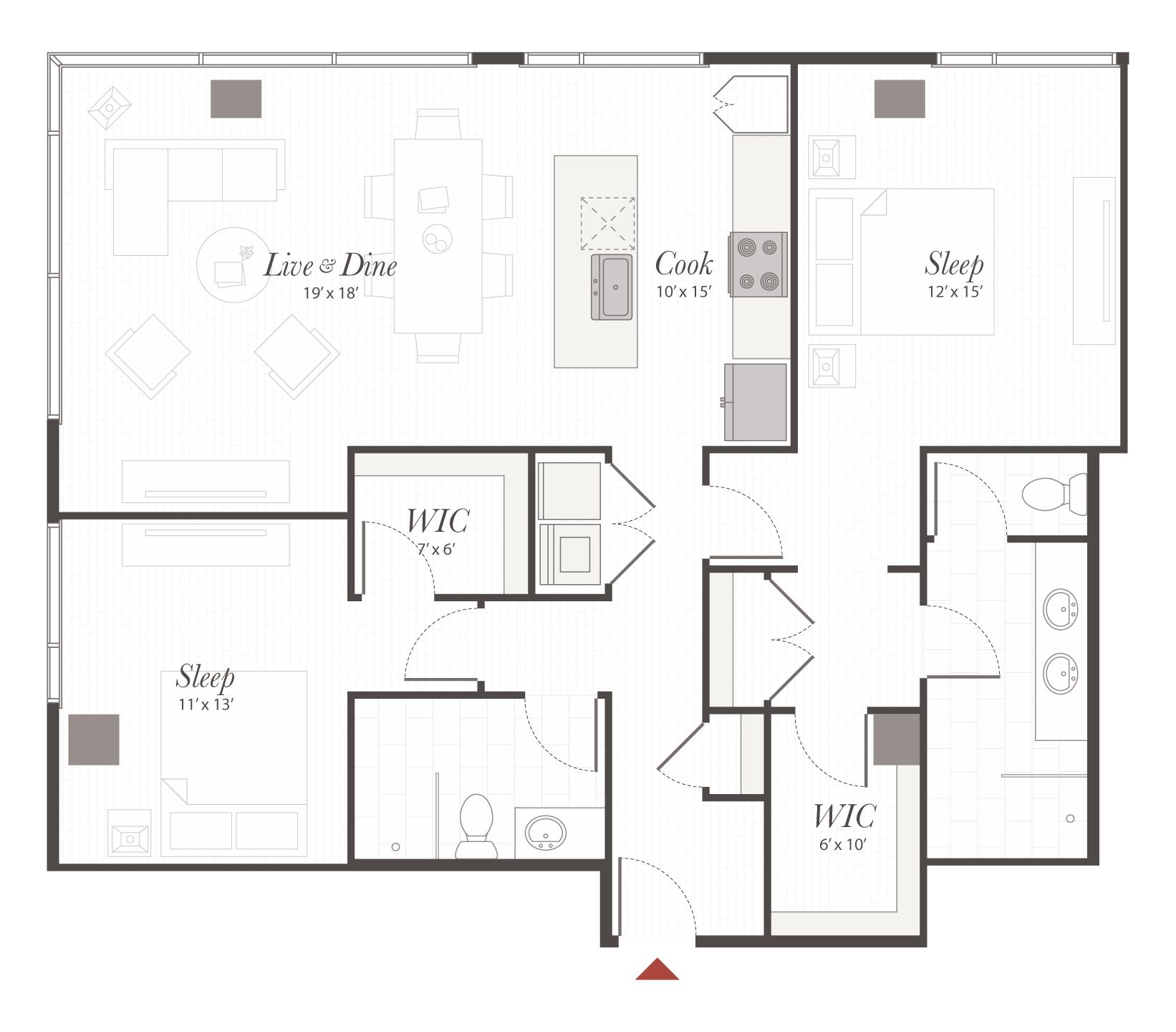 X2 - 2 Bedroom Apartment Cincinnati