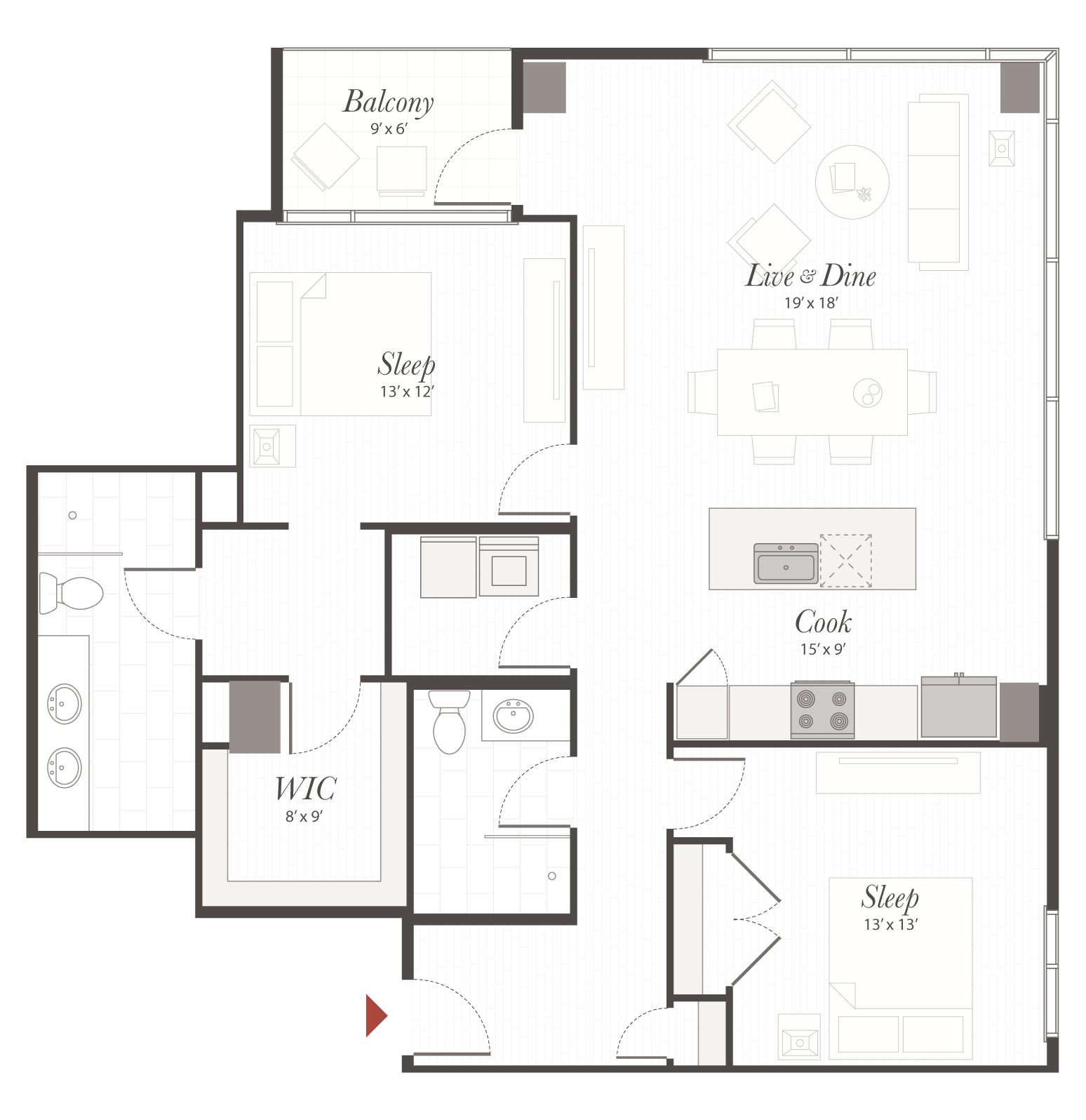 B6 1 bedroom apartment cincinnati encore apartments - 2 bedroom apartments in cincinnati ...