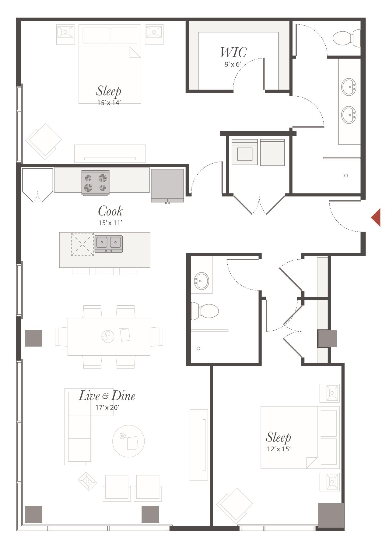 T8 2 bedroom apartment cincinnati encore apartments - 2 bedroom apartments in cincinnati ...